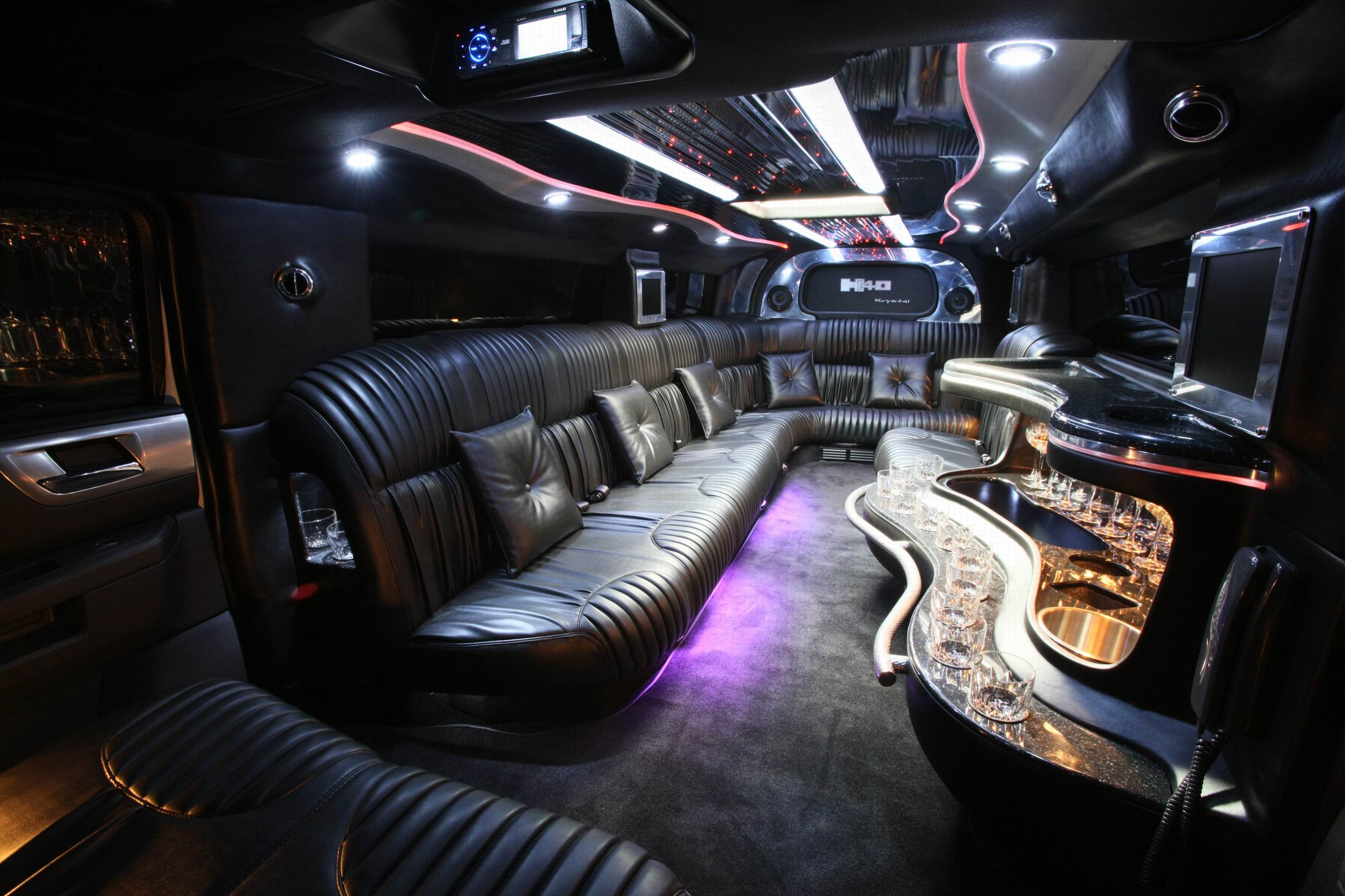 Limo Interior Party Bus Okc Black Diamond Limo Party