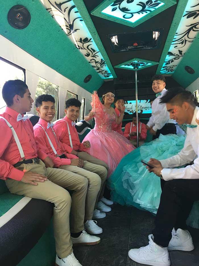 Quincea 241 Eras Party Bus Okc Black Diamond Limo Party